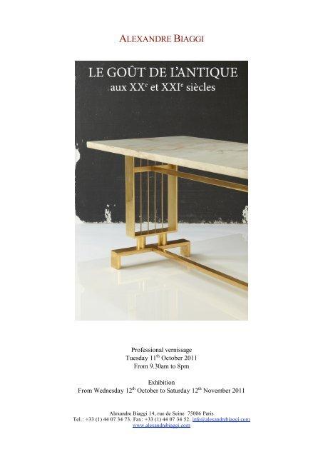 Page De Garde Expo Blanc Le Gout De L Antiquitç Alexandre