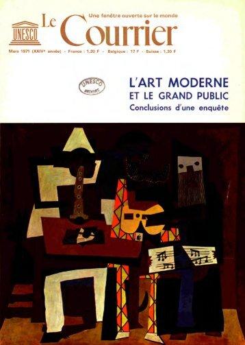 L'Art moderne et le grand public; The Unesco ... - unesdoc - Unesco