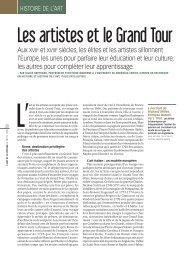 Les artistes et le Grand Tour, par Gilles - Cndp