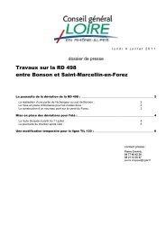 Travaux sur la RD 498 entre Bonson et - Conseil général de la Loire