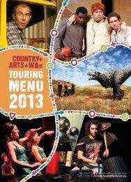 Touring Menu (pdf) - Country Arts WA