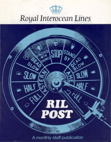 Royal Interocean Lines - Varen Is Fijner