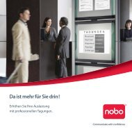 Bildschön: Digitale Hightech- Projektoren von nobo - Büro Schoch AG