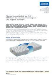 Plus de propreté et de confort AirPulse® – Le nouveau ... - Bico AG