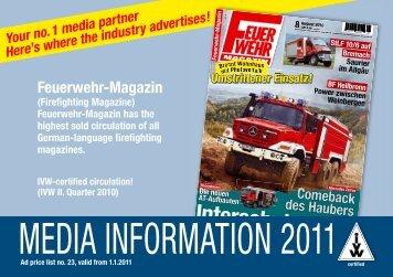 Media inforMation 2011 - Feuerwehr-Magazin