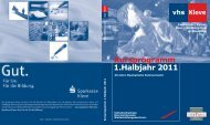 1.Halbjahr 2011 Kursprogramm - in Kleve