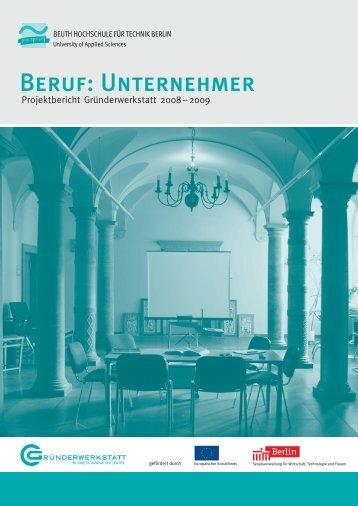 Bericht Gründerwerkstatt 3 - Beuth Hochschule für Technik Berlin