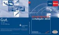 2.Halbjahr 2010 Kursprogramm - in Kleve