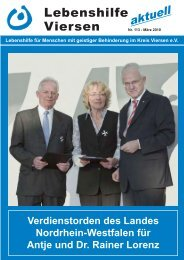 Nr. 113 - März 2010 Lebenshilfe aktuell Viersen