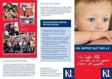 K&L RUPPERT HILFT KIDS eV - Kinder armer Eltern werden Eltern ...