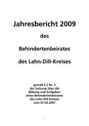 Jahresbericht 2009 - Lahn-Dill-Kreis