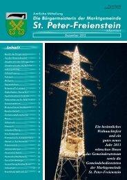 Infoblatt Dezember 2012 - Gemeinde St. Peter Freienstein