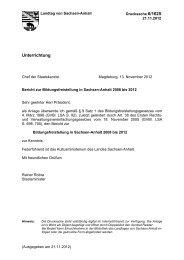 Unterrichtung - Der Landtag von Sachsen-Anhalt