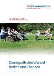 Blickpunkte 02-2009 - Der PARITÄTISCHE Sachsen Anhalt