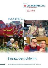 BLICKPUNKTE 01-2010.indd - Der PARITÄTISCHE Sachsen Anhalt