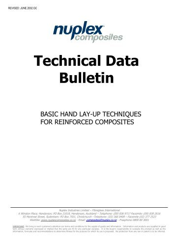 TECHNICAL DATA BULLETIN - Nuplex Composites