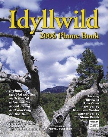 2006 Phone Book - Idyllwild Town Crier