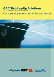 GAC Ship Lay-Up Solutions Comprehensive services for laid-up ...