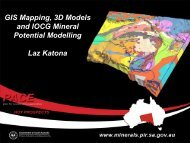 GIS Mapping, 3D Models and IOCG Mineral Potential Modelling Laz ...