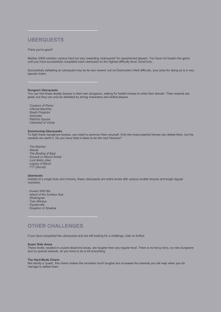 Median 2008 - Diablo 2 Mods by Brother Laz