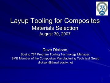 Tooling for Composites - Society of Manufacturing Engineers