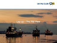 Lay Up - The P&I View - UK P&I
