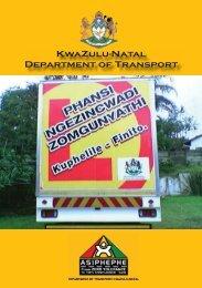 Zulu - KwaZulu-Natal Department of Transport