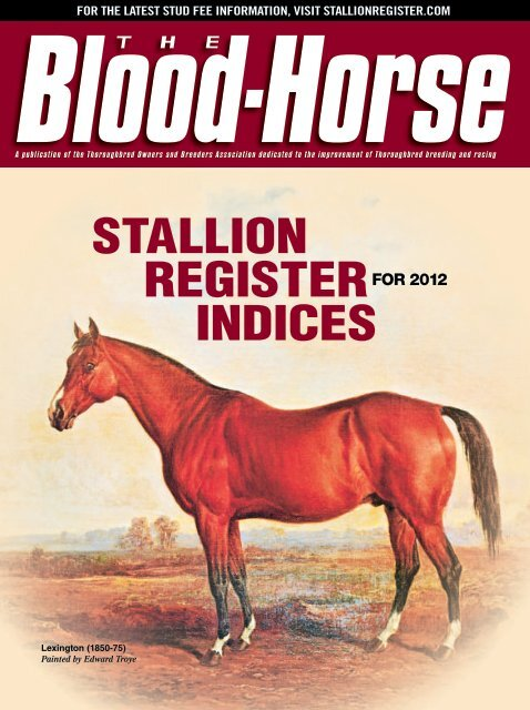 Outstanding Blood Horse Stallion Register Indices 2012 Hbpa Bc Ncnpc Chair Design For Home Ncnpcorg