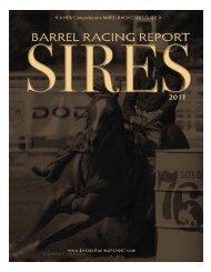 alphabetical - Barrel Racing Report