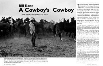 Bill Kane: A Cowboy's Cowboy - Range Magazine