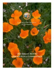 2011 annual report health policy - California Department of ...