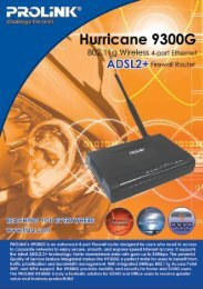 PROLINK 9300G Wireless ADSL 2+ Bridge/Router/Modem