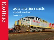 Guy Elliott analyst slides August 2011 - Rio Tinto