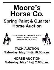 Spring Paint & Quarter Horse Auction