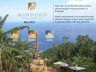 May 2012 - Corporate Presentation - Mindoro Resources Ltd.