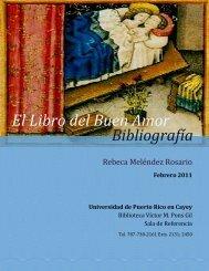 El Libro del Buen Amor Bibliografía