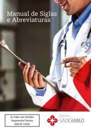 Manual de Siglas e Abreviaturas - Hospital São Camilo