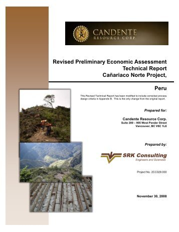 Revised Preliminary Economic Assessment Technical Report ...
