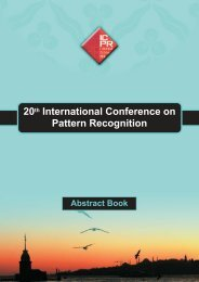 Abstract book (pdf) - ICPR 2010