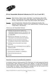 PV de l'Assemblée Générale Ordinaire du C.P.V. du 12 avril 2011