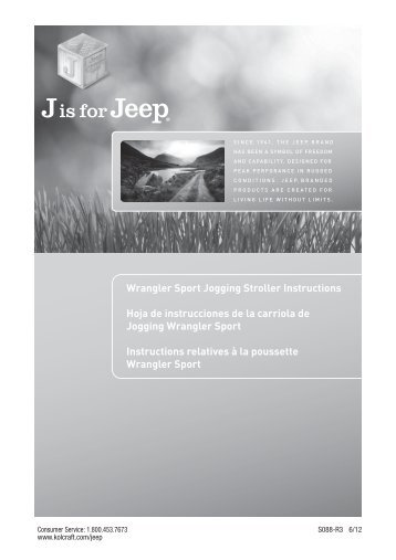 Jeep Wrangler Umbrella Stroller Instructions Jeep World