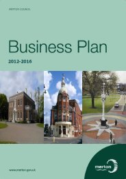 LB Merton CMT Cover sheet - Merton Council