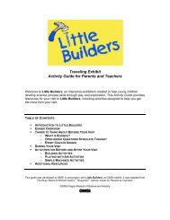 Traveling Exhibit Activity Guide for Parents and Teachers - OMSI