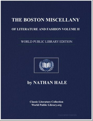 the boston miscellany of literature and fashion volume ii