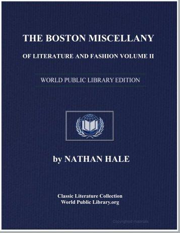 the boston miscellany of literature and fashion volume ii