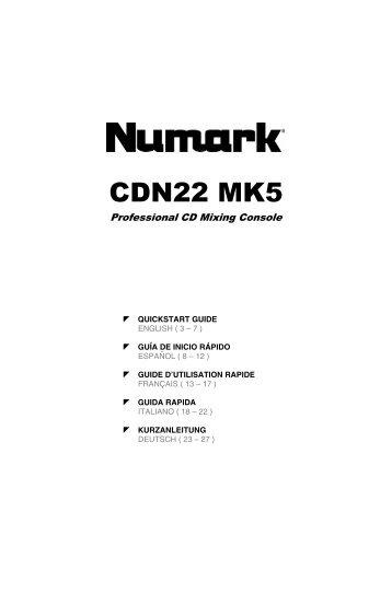 CDN22 MK5 Quickstart Guide - v4.3 - Numark