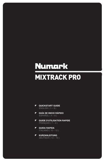 MIXTRACK PRO - Quickstart Guide - v1.0 - Numark