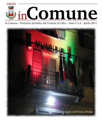 CALCO 150° anniversario dell'Unità d'Italia - Comune di Calco