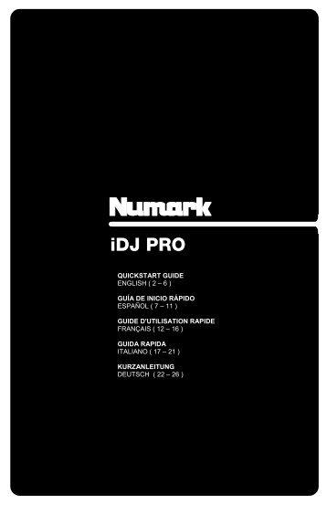 iDJ PRO - Quickstart Guide - v1.2 - Numark