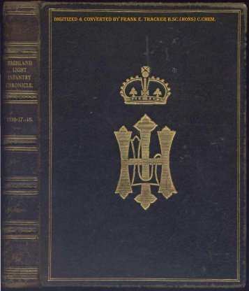 HLI Chronicle 1918 - The Royal Highland Fusiliers